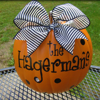 Family Name Personalized PumpkinsADORABLE by pinksevendesigns