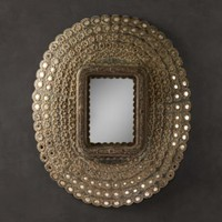Peacock Mirror | Metal | Restoration Hardware