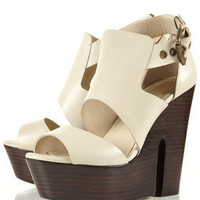 LISBON Buckle Wood Heel Sandals - Heels  - Shoes  - Topshop
