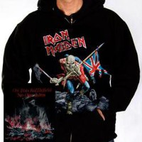 ROCKWORLDEAST - Iron Maiden, Hoodie, The Trooper Distressed