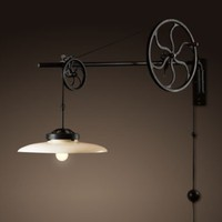 Circa 1930 Adjustable Pulley Sconce | Wall | Restoration Hardware