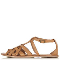 HIPPY Woven Detail Sandals - Flats  - Shoes
