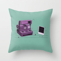 Shake It Like A Polaroid Picture Throw Pillow by Teo Zirinis | Society6