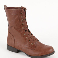 Nollie Lace Up Military Boots