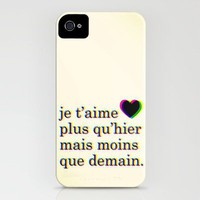 je t'aime iPhone Case by Krysti Kalkman | Society6