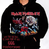 ROCKWORLDEAST - Iron Maiden, Hoodie, Number Of The Beast