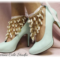 Chandelier Shoe Jewelry  for pumps,heels  Great way to decorate wedding, special occasion and Prom shoes A Catherine Cole Exclusive