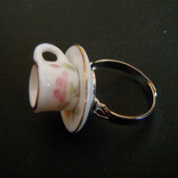 Teeny Little Teacup Ring by cutiehead on Etsy
