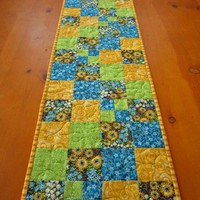 Quilted Table Runner Spring Color