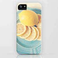 Lemons on Blue iPhone Case by Olivia Joy StClaire | Society6