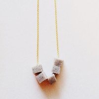 Geo Necklace in Granite