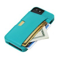 CM4 Q4-GREEN Q Card Case Wallet for Apple iPhone 4/4S - 1 Pack - Retail Packaging - Pacific Green: Cell Phones &amp; Accessories