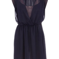 Navy chiffon bead dress - Sale  Offers - Dorothy Perkins