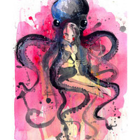 Hugs Giclee Print by Lora Zombie