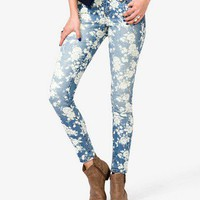 Floral Print Skinny Jeans | FOREVER 21 - 2022018151