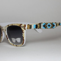 Animal Print Beaded Sunglasses Glitter Fabulous
