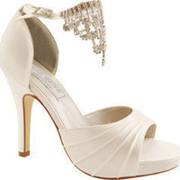 Liz Rene Guadalupe - White Silk Satin - Free Shipping & Return Shipping - Shoebuy.com