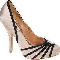 Badgley Mischka MP2030-Orphelia - Cream/Black Satin - Free Shipping & Return Shipping - Shoebuy.com