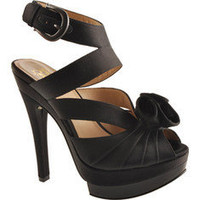 Joan & David Valeria - Black/Black Satin - Free Shipping & Return Shipping - Shoebuy.com