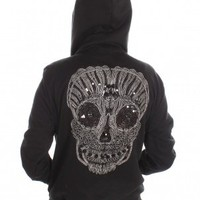 Black Spiked Skull Hoodie by God Save LA - ShopKitson.com