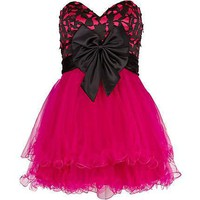 Fantastic Lace Ball Gown Sweetheart Mini Prom Dress with Bow