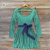 Foxtail Stripe Dress, Sweet Women&#x27;s Bohemian Clothing