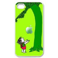 love story little Boy n the giving tree with an apple iphone 4 4s case