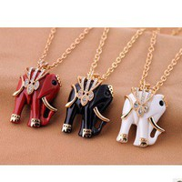 Retro Cute Elephant Necklace