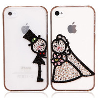 Original Wedding Crystal Bling Bling Phone Case for Couple
