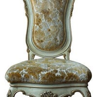 Carved Queen Anne Style Chair by lavintagefurnishings on Etsy