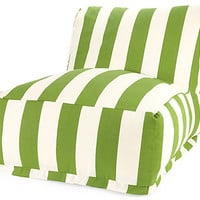 One Kings Lane - Kick Back &amp; Relax - Stripes Outdoor Beanbag, Sage
