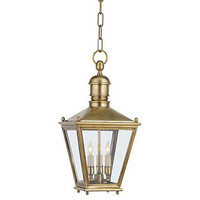 One Kings Lane - Visual Comfort - Sussex 3-Light Hanging Lantern, Brass