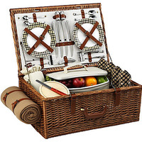 One Kings Lane - Picnic at Ascot - Dorset Picnic Basket for 4 w/ Blanket