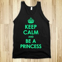 Keep Calm And Be A Princess (Mint with a white Underbase) - Diamond Images