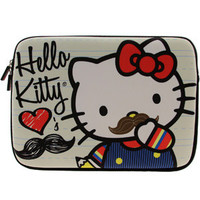 Hello Kitty Mustache Laptop Case (tan) Accessories SANLC0025 | PickYourShoes.com