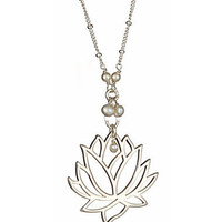 Max &amp; Chloe - Athena Designs Lotus Pendant Necklace - Max and Chloe