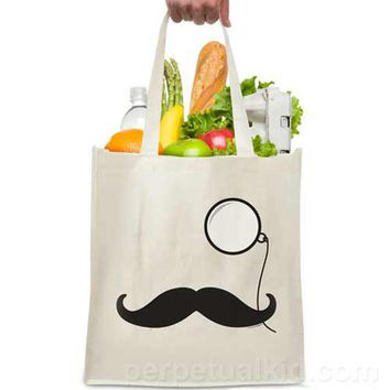 MUSTACHE & MONOCLE TOTE BAG