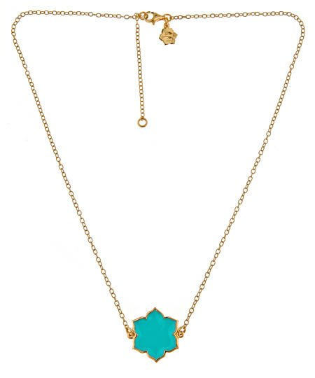 Max & Chloe - Jordann Double-Sided Turquoise Magnolia Necklace - Max and Chloe