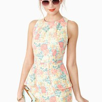 Sweet Bloom Peplum Dress