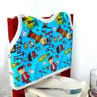 Pirate Theme Toddler Bib by maddywear
