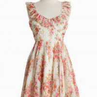 March Winds Floral Dress