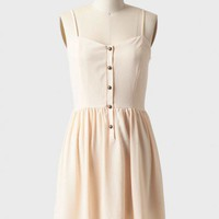 newberry buttoned dress in cream at ShopRuche.com