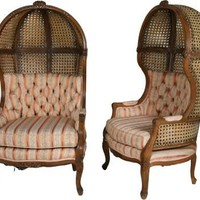 One Kings Lane - John Salibello Antiques - Porter?s Chairs, Pair