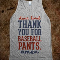 Dear Lord, Thank You for Baseball Pants (Tank) - Sports Girl