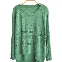 Cut Out Knitted Jumpers with High Low Hem 2
