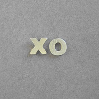 Silver Earrings  XO Studs  Hugs and Kisses  by DaliaShamirJewelry