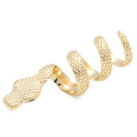 Accessories Boutique Wrap Ring Snake in Gold