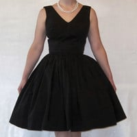 1950's/1960's Vintage Black Cocktail  Mad Men by FirstLoveLastLove