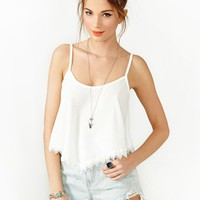 Summer Lace Crop Tank - Ivory