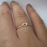 Silver Knot Ring by DesignedByLei on Etsy